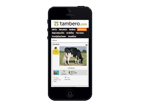 Mobile dairy cattle app